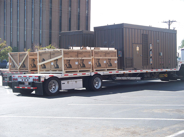 <p>Lennox units being delivered to the job site</p>